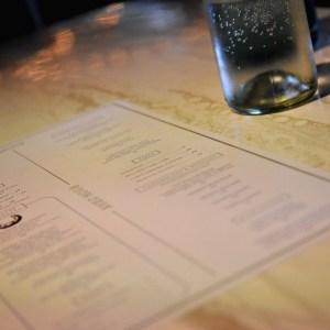 the menu..