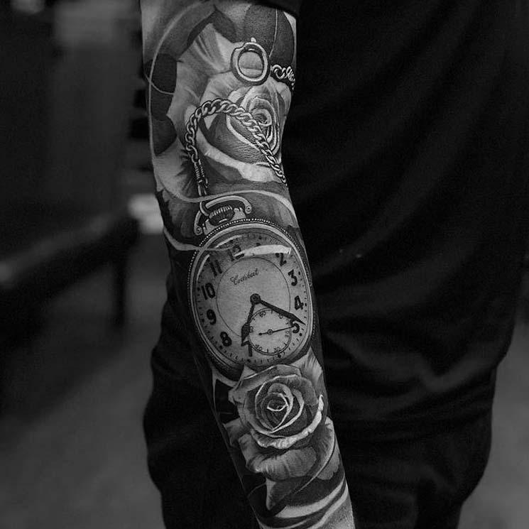 clock-rose-arm-sleeve-tattoo.jpg