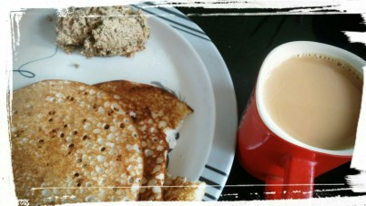 Onam breakfast (what kinda of a foodie would I be if I waited till I clicked before digging in)