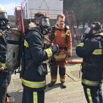 Breathing Apparatus fire fighting STCW camels head fire station super yacht training learning