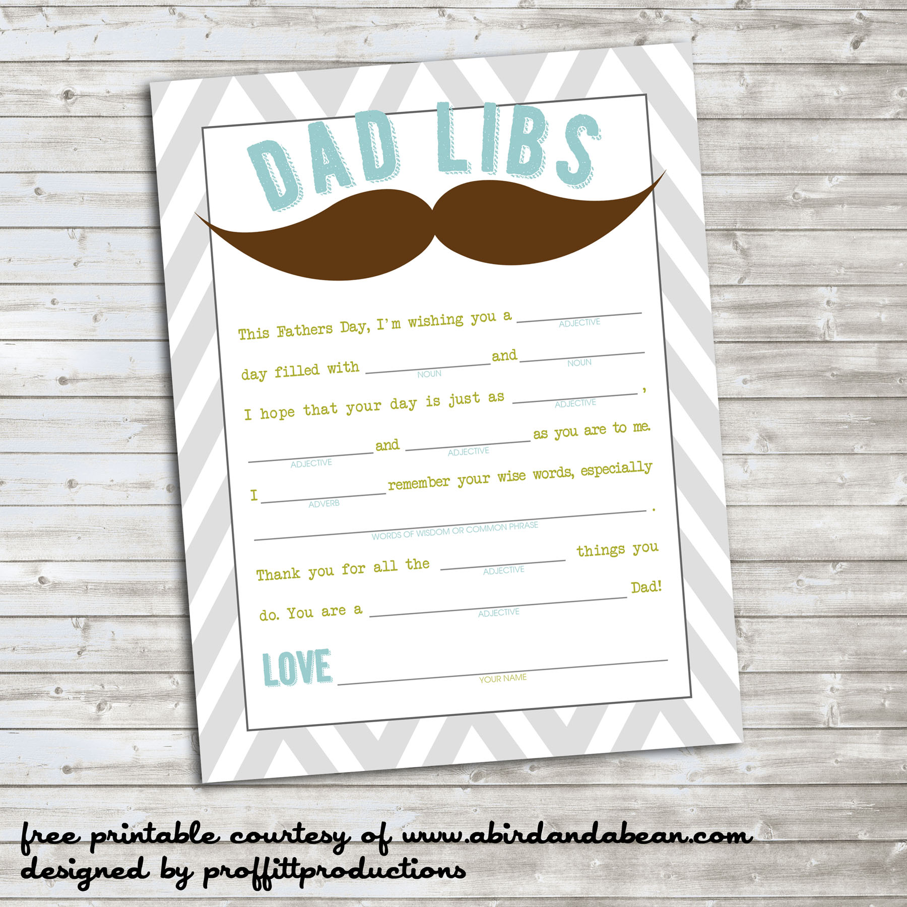 Dad Libs Free Printable