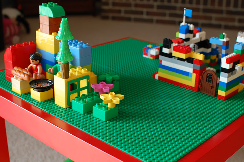 diy lego table  A Bird and a Bean