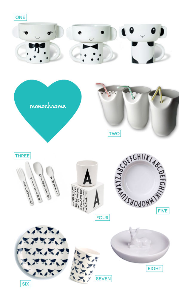 Monochrome Tableware Roundup A Bird With A French Fry