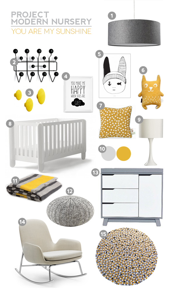 Project Modern Nursery - You Are My Sunshine
