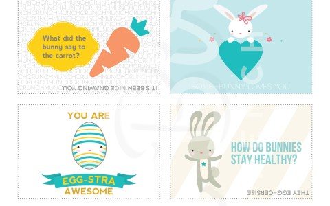 easter lunchbox notes