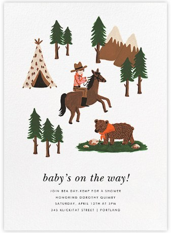 Paperless Post Rifle Paper Co. Baby Shower Invite