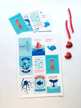 A Bird with a French Fry - Valentine's Day Cards Printables