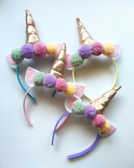 A Bird with a French Fry - Unicorn Pom Pom Headband