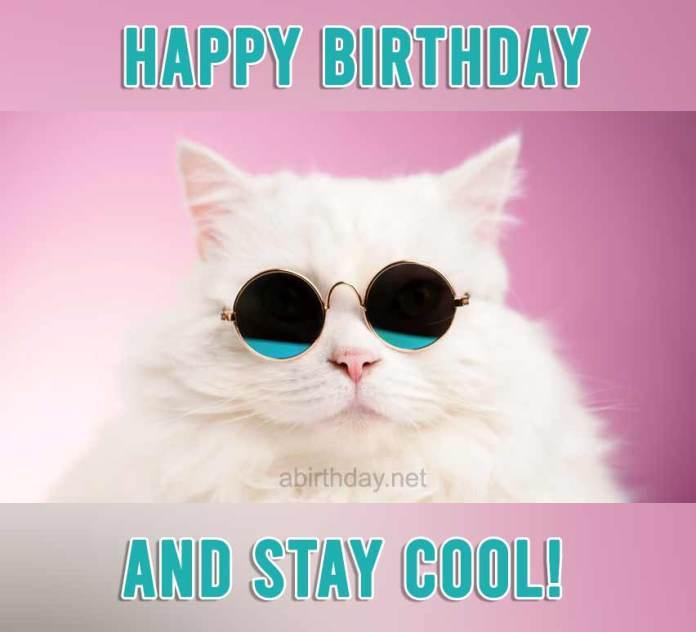 Happy Birthday Cat Meme for Her