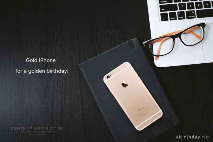 Gold iPhone Birthday Meme