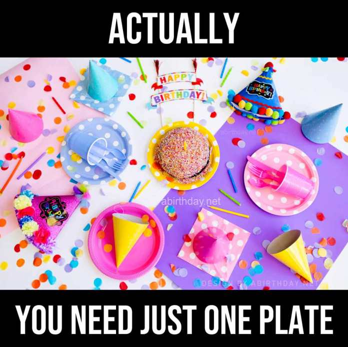 One plate for quarantine birthday meme