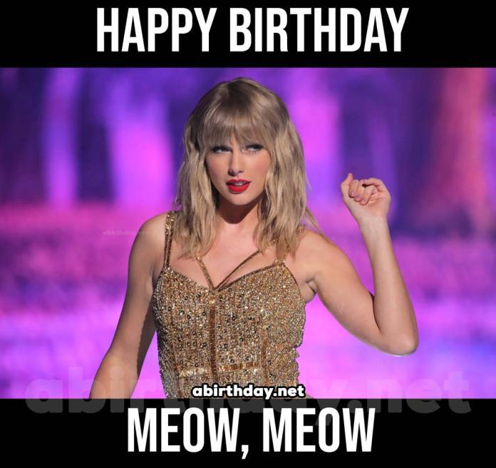Taylor Swift Birthday Meme Meow