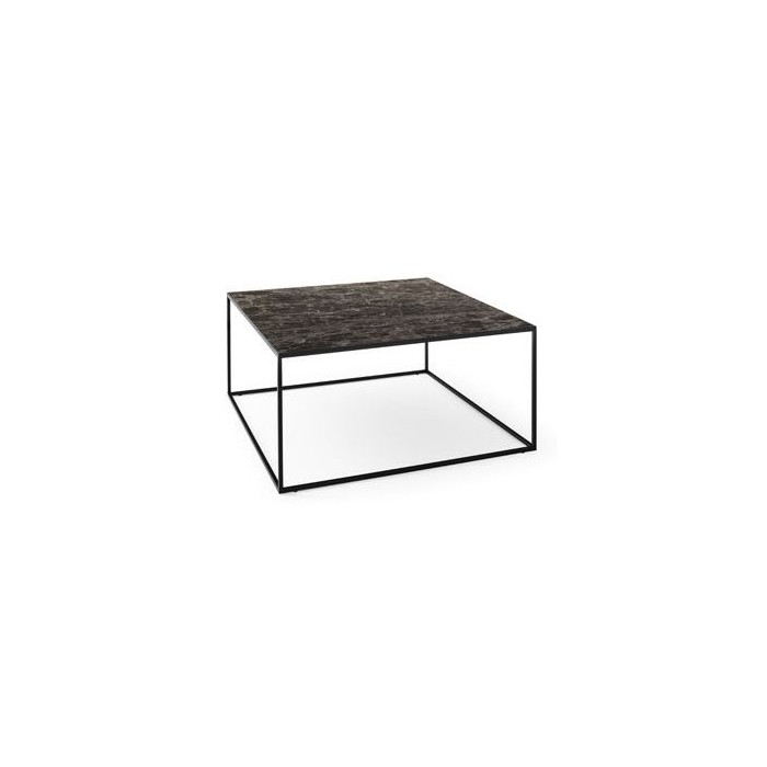 thin coffee table marble 70x70cm calligaris