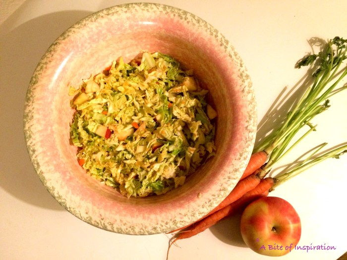 Napa Cabbage and Apple Slaw