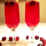 Mulled Cranberry-Orange Non-Alcoholic Fizz