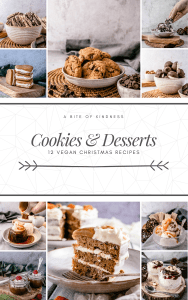 Front page of Christmas recipe ebook