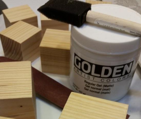 prime blocks with gel medium