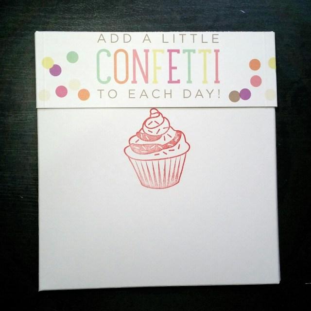 A Bit Of Glue & Paper - handmade memory keeping album envelope, girl's birthday, cupcake - Vancouver BC