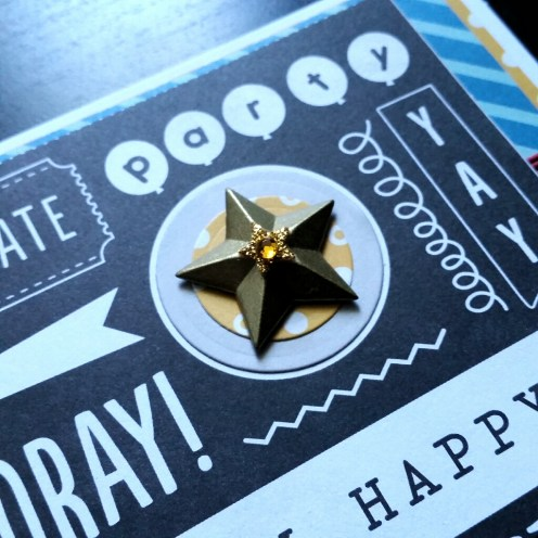 A Bit Of Glue & Paper - masculine birthday card, gold start, black and white sentiments - Vancouver BC