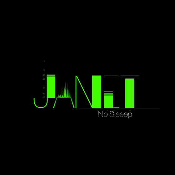 Janet Jackson No Sleeep single cover