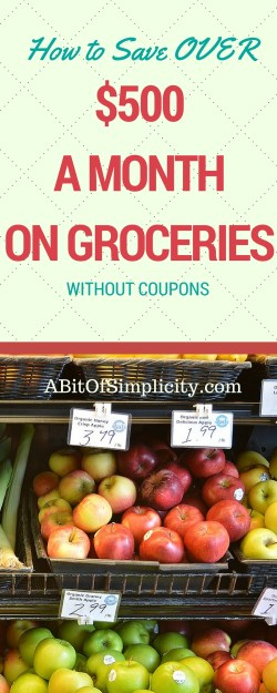 Want to learn my secret tip for saving OVER $500 a month on groceries WITHOUT using coupons?