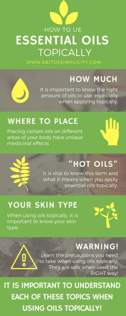 Essential oils have so many wonderful medicinal purposes and applying topically is a great way to absorb those benefits. However, it is important to understand the do's and don't's when using these oils! www.abitofsimplicity.com