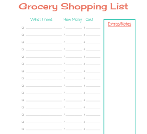 Find out how to EASILY plan out your meals for a month PLUS get an awesome grocery list freebie! www.abitofsimplicity.com