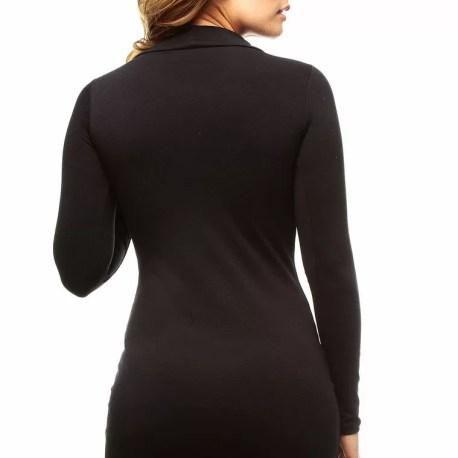 Vestido Corto Cuello Alto Negro