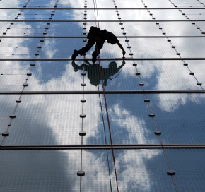 High Rise Window Cleaning by ABI Window Cleaning Pressure