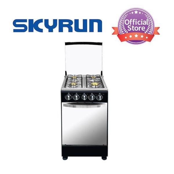 Skyrun 4 Burners Gas Cooker – Black