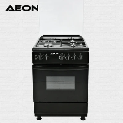 Aeon Gas Cooker 60*60 3 Gas + 1 Hot Plate 2 Burner Black