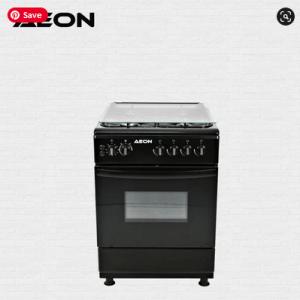 Aeon Gas Cooker 60×60 4 Gas 2 Burner Black