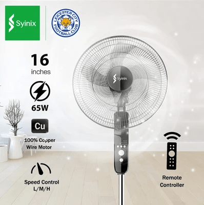 Syinix 16 inch Standing Fan  with Remote