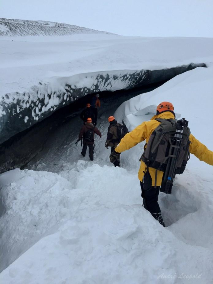 Einstieg in die Gletscherhöhle