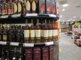 Vinmonopolet shop full of Cognac Leyrat