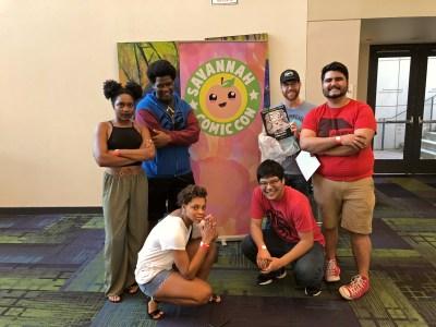 Photo of my friends and I at Savannah Comic Con