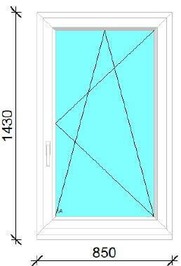 85x143 műanyag ablak ára