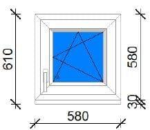 60x60 műanyag ablak raktárról
