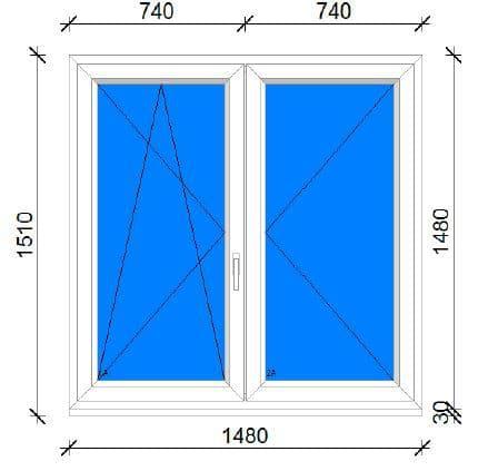 150x150 műanyag ablak