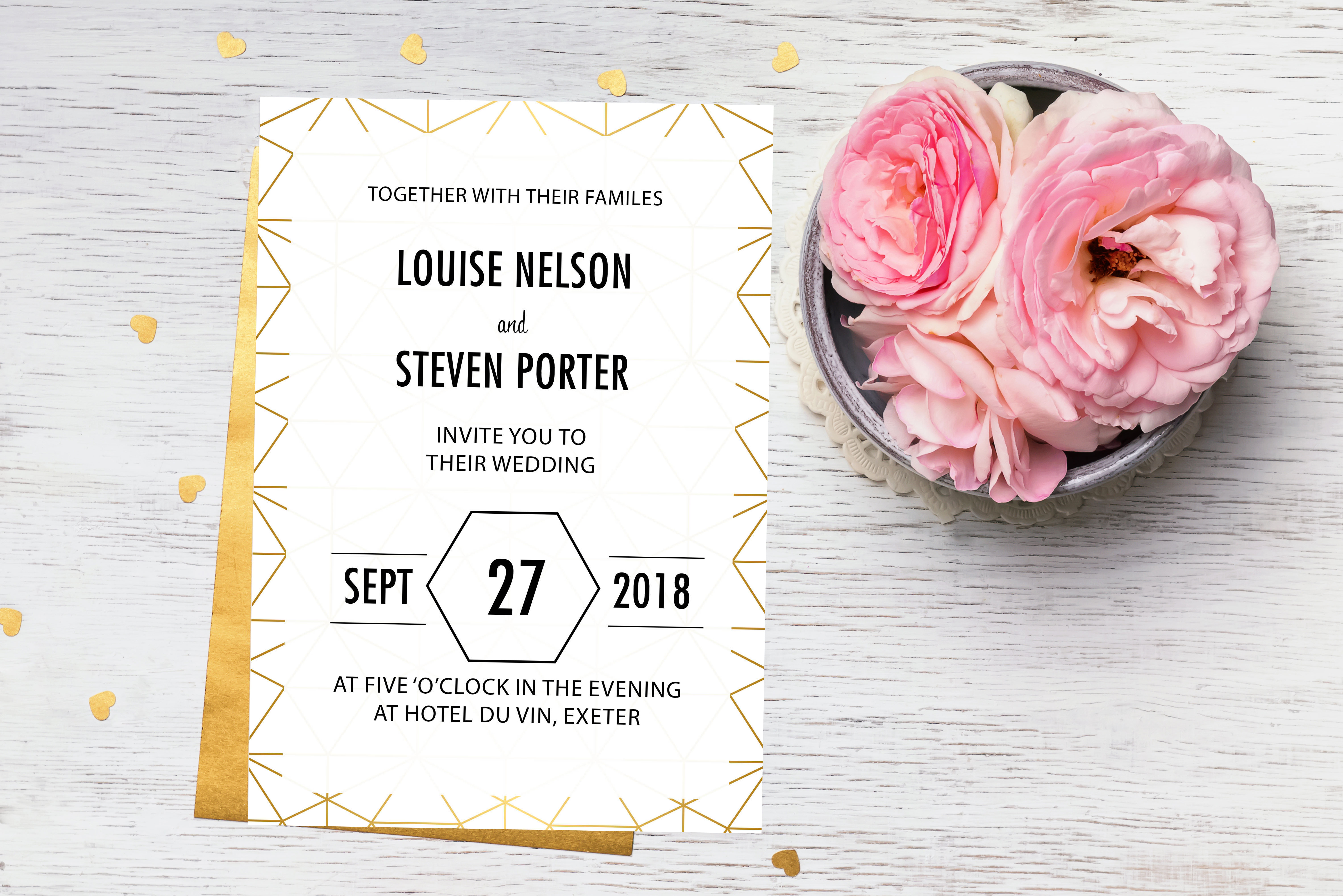 Geo Wedding Stationery Invitation