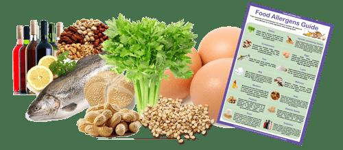 Food Allergen Guide - allergens and ingredients