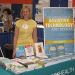 Suzanne at her booth at the SUNY AT Expo