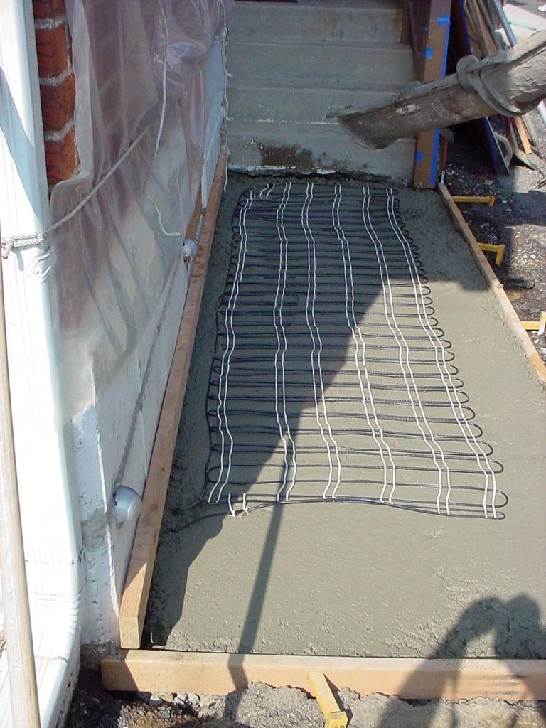 Snow Melting Systems for Driveways Concrete Walkways