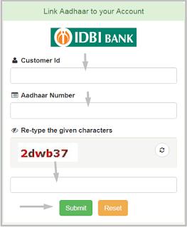IDBI Bank Account Me Aadhaar Number Link करने के 2 तरीके