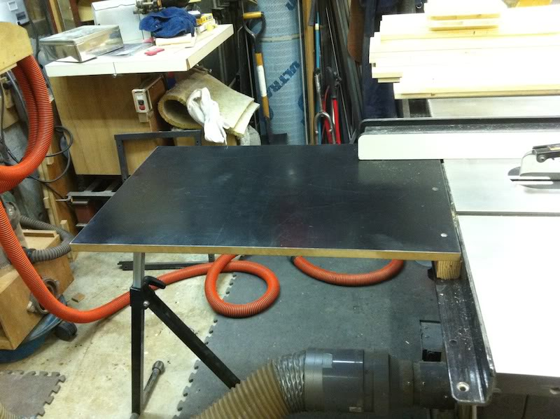 Folding Outfeed Table Sawstop
