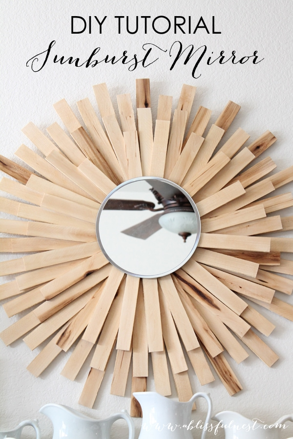 DIY Tutorial Sunburst Mirror