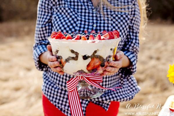 Patriotic Berry Trifle Recipe