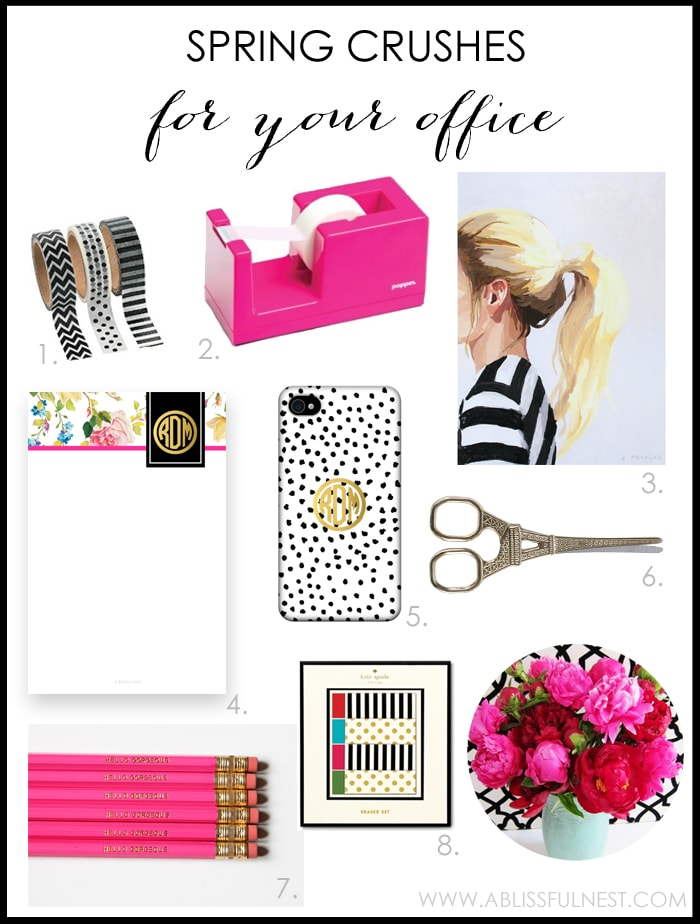 Spring Desk Essentials by A Blissful Nest