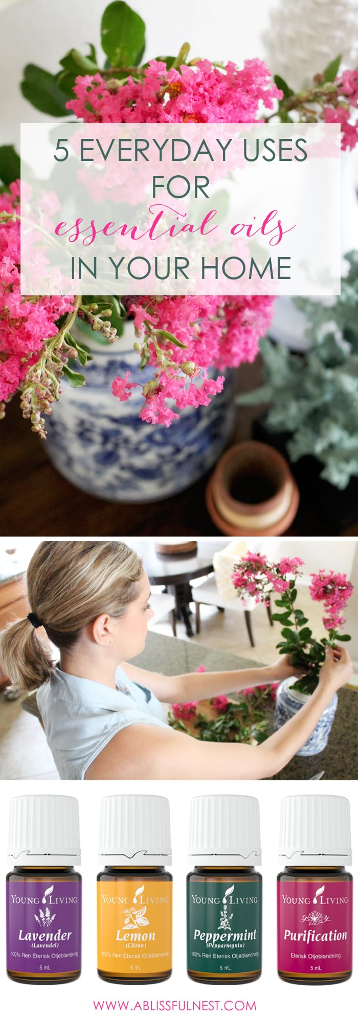 5 everyday uses for essential Oils via A Blissful Nest