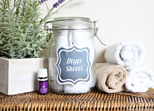 DIY Dryer Sheets + Free Printables